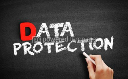 Business: Data protection text on blackboard #00196