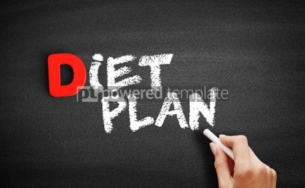 Business: Diet Plan text on blackboard #00198