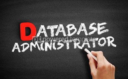 Business: Database Administrator text on blackboard #00204