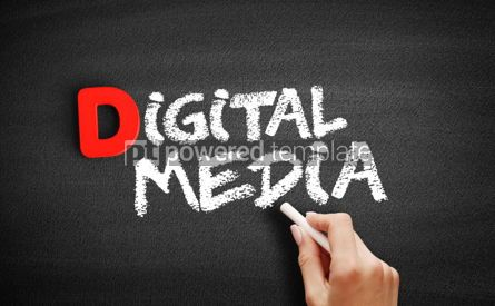 Business: Digital Media text on blackboard #00208