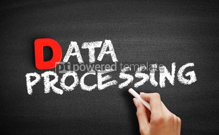 Business: Data processing text on blackboard #00210