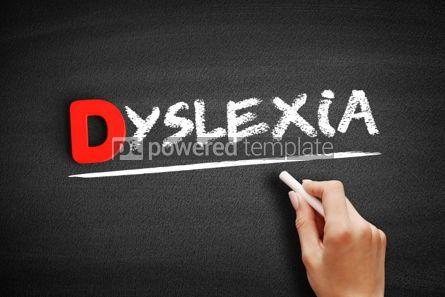 Business: Dyslexietekst Op Bord Foto #00213