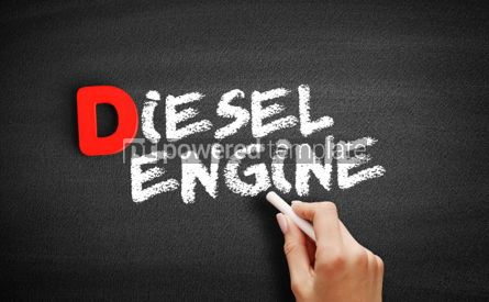 Business: Diesel engine text on blackboard #00215