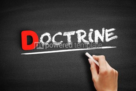 Business: Doctrine text on blackboard #00218