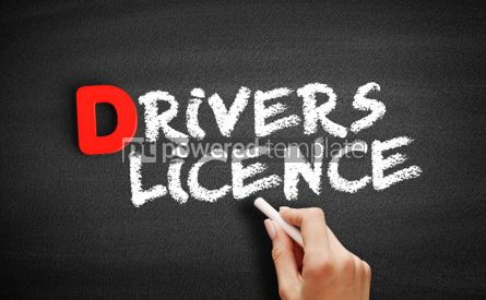 Business: Driver's license text on blackboard #00219