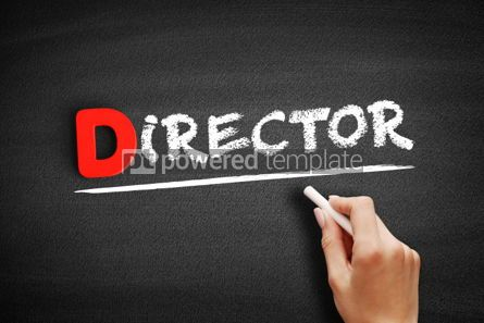 Business: Director text on blackboard #00220