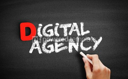Business: Digital agency text on blackboard #00222