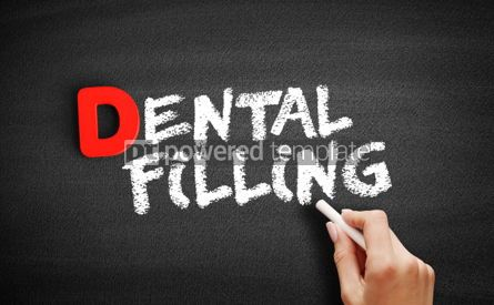 Business: Dental filling text on blackboard #00223