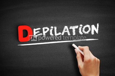 Business: Depilation text on blackboard #00225