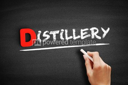 Business: Distillery text on blackboard #00227