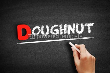 Business: Doughnut text on blackboard #00228