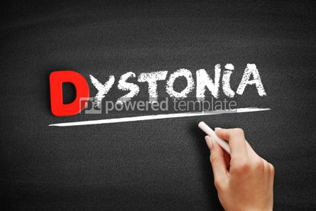 Business: Dystonia text on blackboard #00230