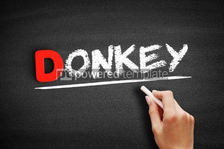 Business: Donkey text on blackboard #00231