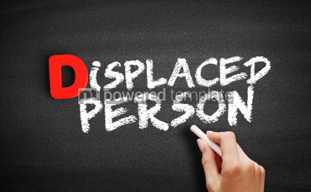 Business: Displaced person text on blackboard #00234