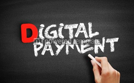 Business: Digital payment text on blackboard #00235