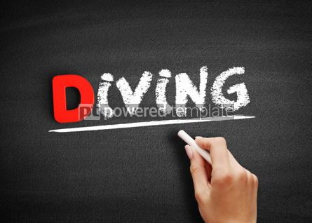 Business: Diving text on blackboard #00237