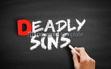 Business: Deadly sins text on blackboard #00238
