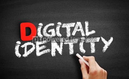 Business: Digital identity text on blackboard #00240