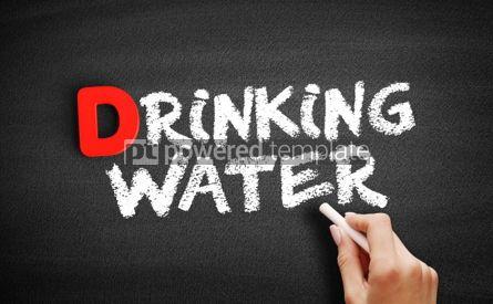 Business: Drinking water text on blackboard #00243