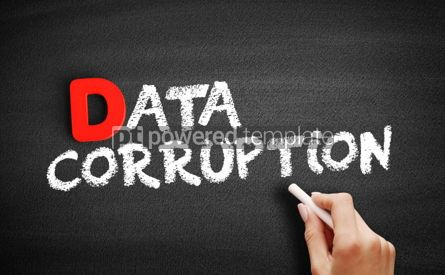 Business: Data corruption text on blackboard #00244