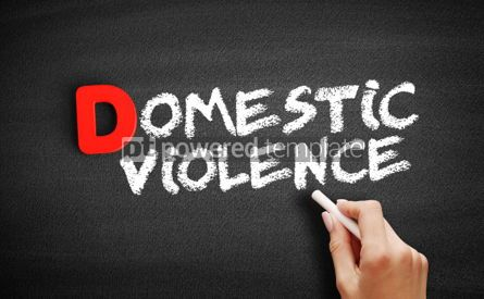 Business: Domestic violence text on blackboard #00245