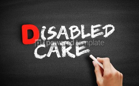Business: Disabled care text on blackboard #00247