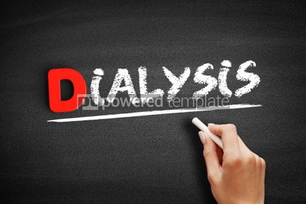 Business: Dialysis text on blackboard #00248