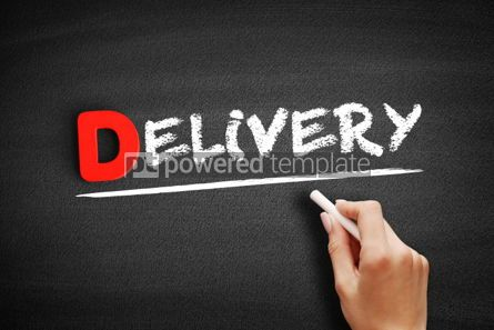 Business: Delivery text on blackboard #00251