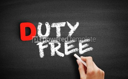 Business: Duty free text on blackboard #00252