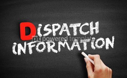 Business: Dispatch Information text on blackboard #00253