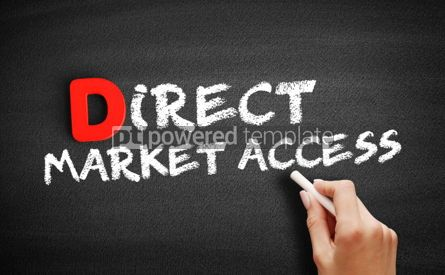 Business: Direct Market Access text on blackboard #00254