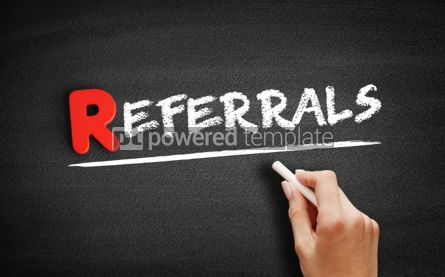 Business: Referrals text on blackboard #00258