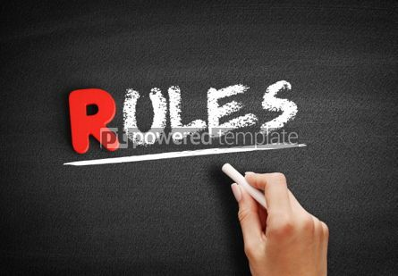 Business: Rules text on blackboard #00259