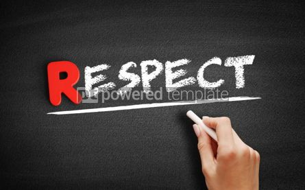 Business: Respect text on blackboard #00260