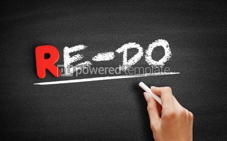 Business: Re Do text on blackboard #00261