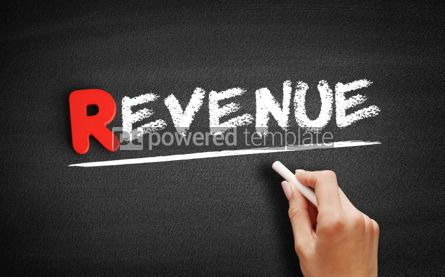 Business: REVENUE text on blackboard #00264