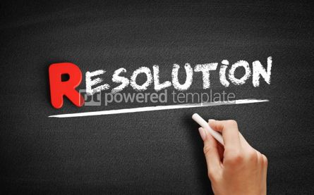 Business: Resolution text on blackboard #00265