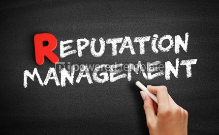 Business: Reputation Management text on blackboard #00267