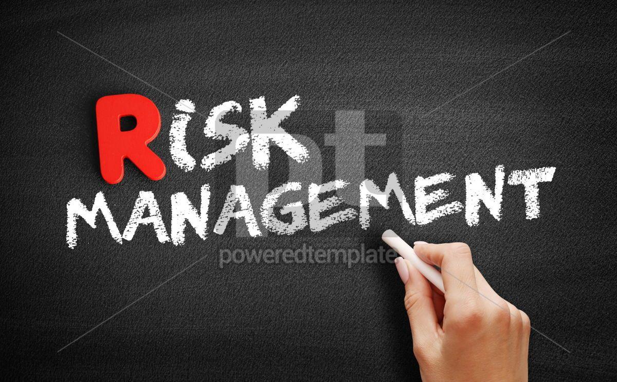 Risk Management text on blackboard, 00270, Business — PoweredTemplate.com