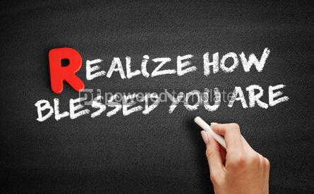 Business: Realize How Blessed You Are text on blackboard #00271