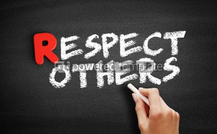Business: Respect Others text on blackboard #00272