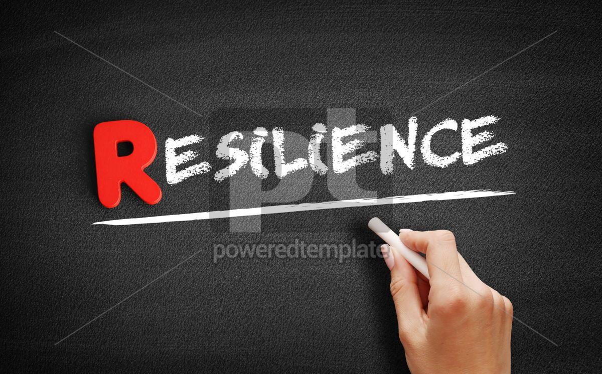 Resilience text on blackboard, 00274, Business — PoweredTemplate.com