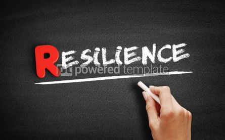 Business: Resilience text on blackboard #00274