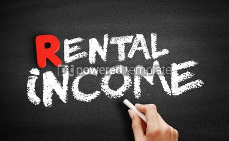 Business: Rental Income text on blackboard #00275