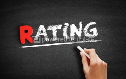 Business: Rating text on blackboard #00279
