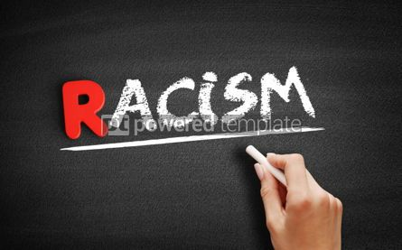 Business: Racism text on blackboard #00280