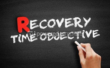 Business: Recovery Time Objective text on blackboard #00282