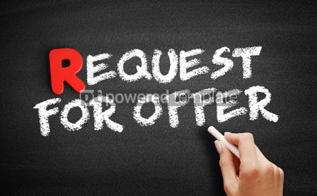 Business: Request For Offer text on blackboard #00283