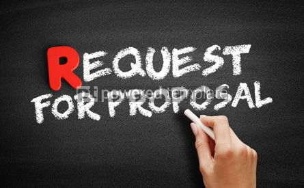 Business: Request For Proposal text on blackboard #00284