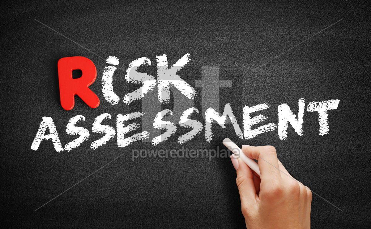 Risk assessment text on blackboard, 00288, Business — PoweredTemplate.com